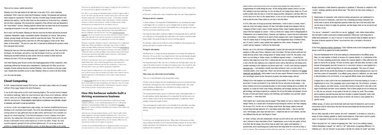 Screenshot of 5 Substack newsletters after scrolling below the fold